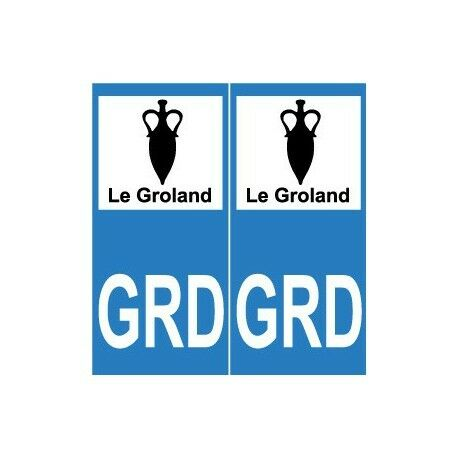 GRD Groland sticker autocollant plaque arrondis
