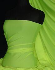 Bright Lime Green 4 Way Stretch Shiny Lycra Material Q54 BLM