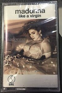 Madonna – Like A Virgin SEALED MINT Cassette MC C7  Sire–25157-4 Singapore