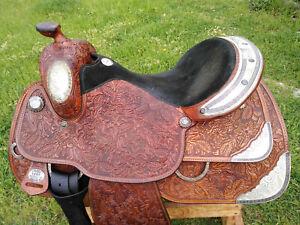 """16"""" Imperial Tex Tan Pleasure Show Saddle-afficher Le Titre D'origine"""