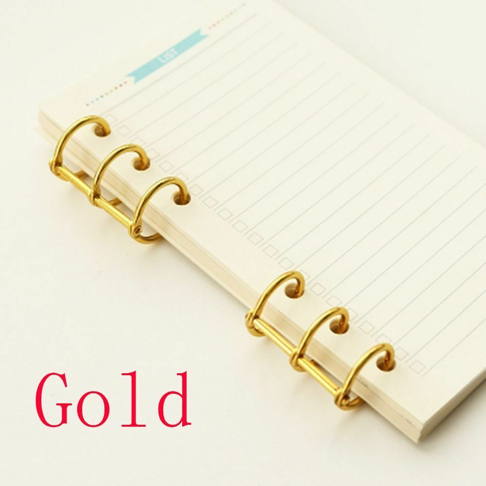 2pcs Vintage Spiral Ring Binde Clips For A5 A6 Notebook Gold Ebay Ruled Moleskine Norton Secured Powered By Verisign