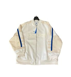 Adidas-The-Brand-With-3-Stripes-Bomber-Jacket-White-Blue-Stripe-Brand-New-Large