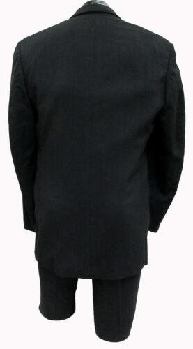 Boy/'s Black Tuxedo Jacket with Pants Two Button Satin Shawl Lapel Ringbearer