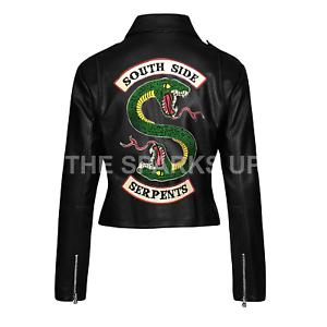 Riverdale Southside serpents GANG Veste Femme Clovix Jones Cole Sprouse Motard