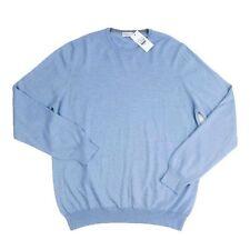 Mens COUNTRY CLUB Light Blue Wool Crewneck Sweater Shirt Jumper 56 2XL / 3XL NWT