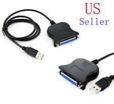 New USB to DB25 Female Port Print Converter Cable LPT