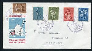 FDC E19 - E 19 Kinderzegels, met getypt adres