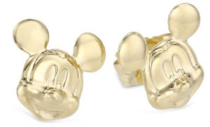 Disney-Mickey-Mouse-14K-Yellow-Gold-Stud-Earrings