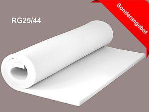schaumstoff schaumstoffplatte rg25 44 schaum polster 200 cm x 120 cm ebay. Black Bedroom Furniture Sets. Home Design Ideas