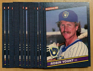 1986-Donruss-48-ROBIN-YOUNT-15-CARD-LOT-HOF-HALL-OF-FAME-INDUCTEE
