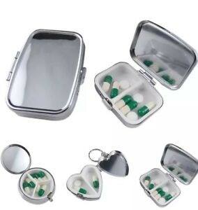 Metall-Pillendose-Tablettenbox-Pillenbox