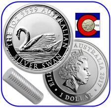 2017 Australia Swan 1 oz. 0.9999 Silver - 20 Coin Roll -- 1st Coin in New Series