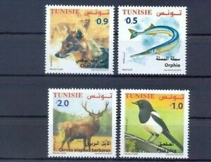 Tunisia-2018-fauna-birds-wild-dogs-fish-etc-set-MNH