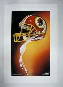 """Washington Redskins NFL Football 20""""x 30"""" Team Lithograph Print by Kelly Russel"""