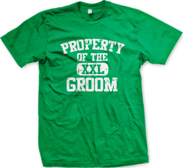 Property of the Groom Wedding Bride Husband Wife Newlywed Party Juniors T-Shirt