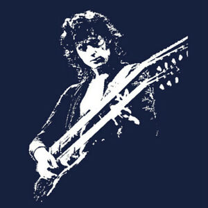 Led-Zeppelin-t-shirt-Jimmy-Page-Guitar-Legend-vintage-style-Gibson-new-s-5x-blk