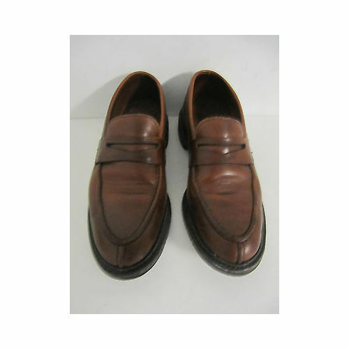 Allen Edmonds Brown Leather Loafers Slip On Shoes Size 7.5 M