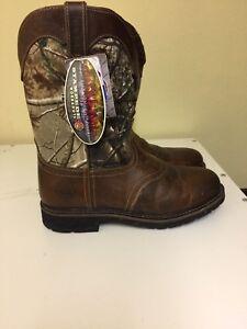 Justin Original Work Boots Stampede Round Toe Boots Men S