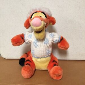 Disney-Store-Exclusive-Winnie-the-Pooh-13-Plush-Tigger-Snowflake-Sweater-AR55