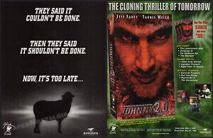JOHNNY-2-0-Orig-1999-Trade-Print-AD-ADVERT-Jeff-Fahey-Tahnee-Welch-cloning