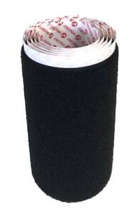 "1 m. Cinta marca VELCRO® adhesivo 150 mm negro 330 pelo hembra 15 cm loop 6"""