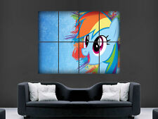 MY LITTLE PONY RAINBOW DASH DIGITAL  ART WALL LARGE IMAGE GIANT POSTER 1
