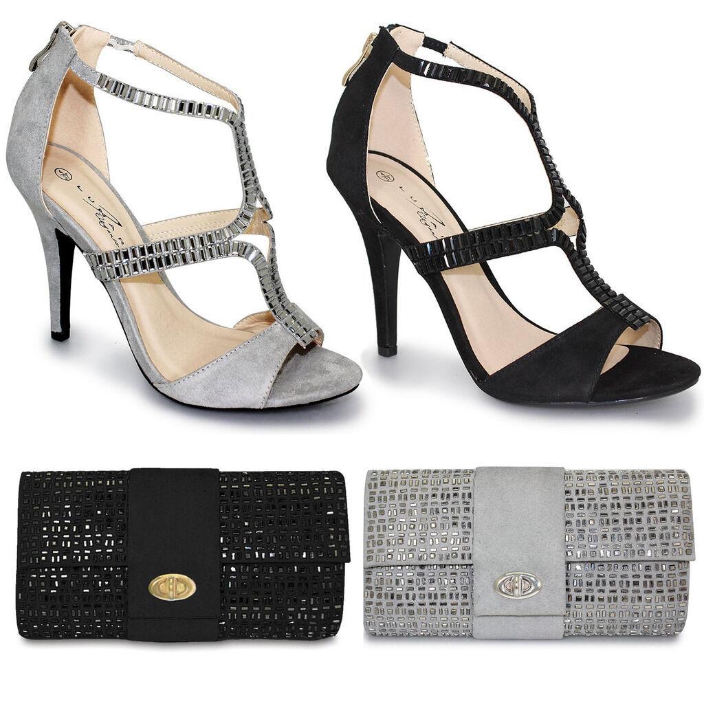 Onorevoli borchie con perline Cut eleganti Out Fibbia Peep Toe eleganti Cut tacco alto POCHETTE 9976dd