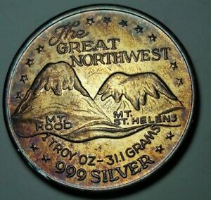 VINTAGE-COLOR-SILVER-TRADE-UNIT-034-THE-GREAT-NORTHWEST-034-ROUND-TONED-UNC-BU-DR