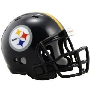 6856a57d8e1 2 PITTSBURGH STEELERS POCKET PRO NFL FOOTBALL HELMET 2