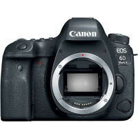Canon EOS 6D Mark II 26.2MP Full HD 1080p Wi-Fi Digital SLR Camera Body (Black)