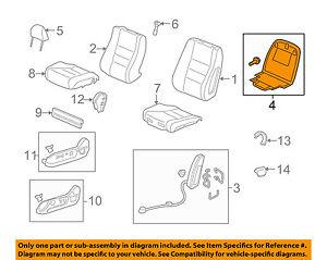 Honda Genuine 81131-SZA-A61ZA Seat Cushion Trim Cover Front Right