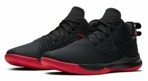 ee8b0910e8f7 Men s Nike Lebron Witness III Black University Red Sizes 8-13 NIB ...
