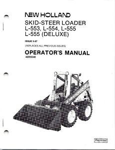 New Holland L553 L554 L555 Skid Loader Operator's Manual 42055340   on new holland ls180 wiring diagram, new holland lx665 wiring diagram, new holland l555 wiring diagram,