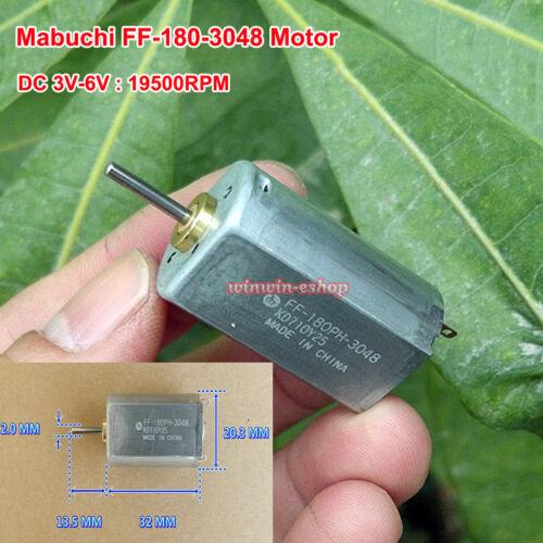 Mabuchi 180 Motor DC 3V-6V 19500RPM High Speed FF-180PH-3048 Metal Brush Motor