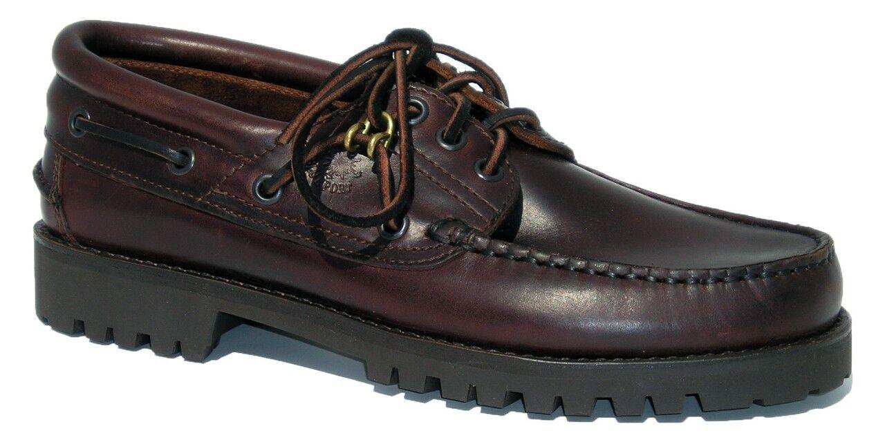 BlauPort Herren klassischer Segelschuh - Mokassin in maritimer Stiefelchuh Optik  | Bekannt für seine gute Qualität