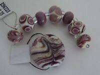 Handmade Lampwork Tabular Focal & 7 Bead Set Retail $40.75 - Closed Shop