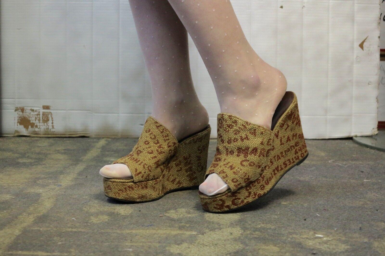Plateauschuhe Sandalen made in  Bast Mare 70er TRUEVINTAGE 70s sandals