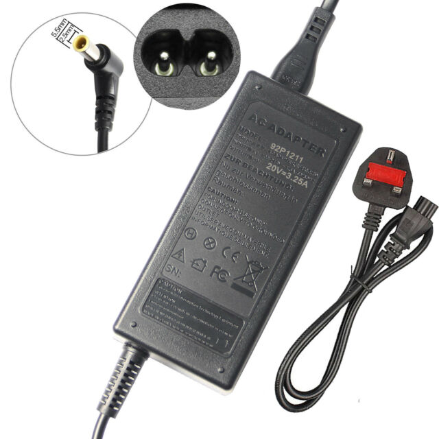 FOR Advent 9215 0335C2065 Power Supply 20V 3.25A Laptop Charger AC Adapter+ Lead