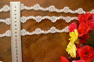 Nylon-Floral-Lace-OFF-WHITE-Fine-17-mm-wide-5-Metres-Njoyfull-Crafts-Flt6