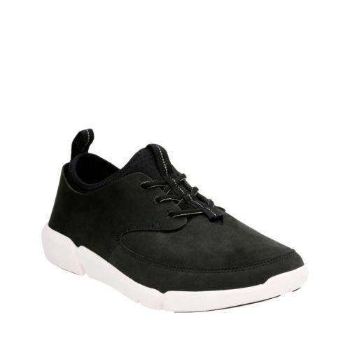 Clarks Men's Triflow Form nero Nubuck Sporty Casual scarpe 26124354