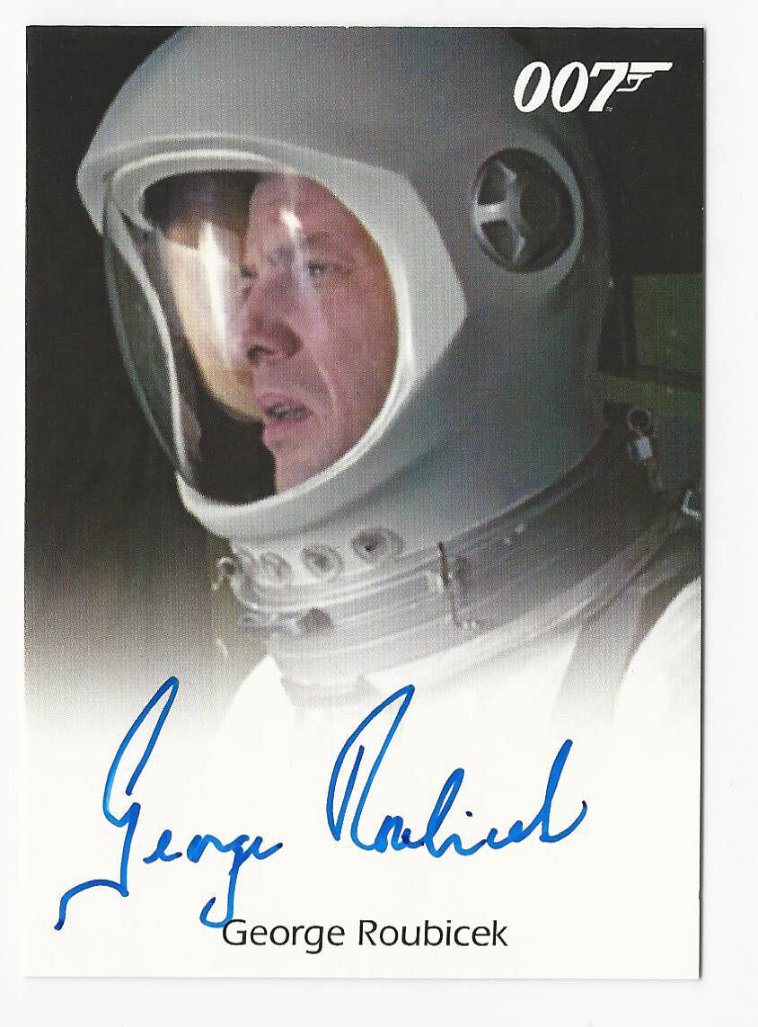 s l1600 - George Roubicek as Astronaut JAMES BOND 007 Spectre Edition 2016 Autograph Card