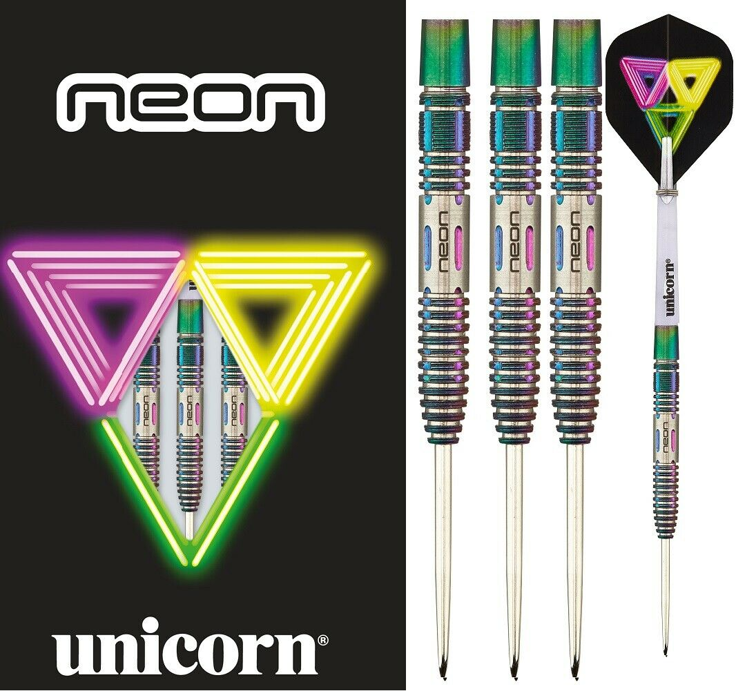 Unicorn Neon 2 DNA Coated 90% Tungsten 21g Darts Set