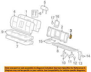 Gm Parts Diagram | Gm Oem Rear Seat Anti Rattle Bumper Cushion Bracket 22771139 Ebay
