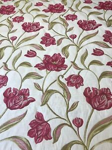 Porter-amp-Stone-Gabriella-Rouge-Curtain-Upholstery-Fabric-Remnant-2m-RRP-79