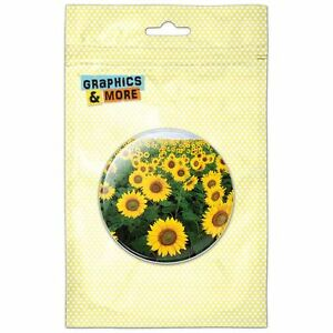 Field of Sunflowers Pinback Button Pin Badge