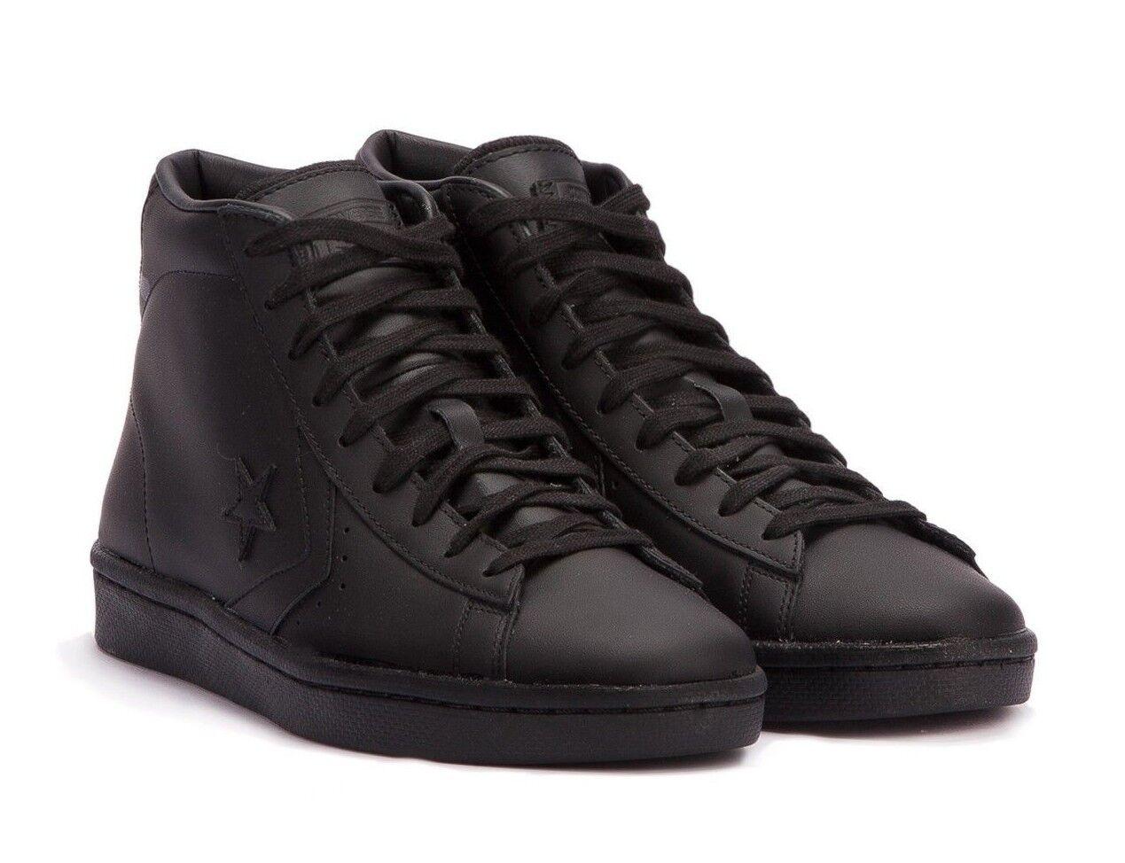 Converse Pro Leather 76 Hi Cuero Negro Tenis de Tobillo Alto 155334C