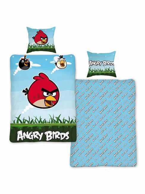 Original Angry Birds Wende-Bettwäsche 135x200 Nin1 Bettgarnitur