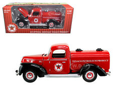 """1940 FORD TANKER """"TEXACO"""" RED 1/18 DIECAST MODEL CAR BY BEYOND THE INFINITY 0605"""