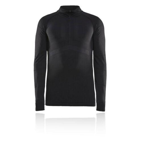 Craft Mens Active Intensity Half Zip Long Sleeve Baselayer Top Black Sports
