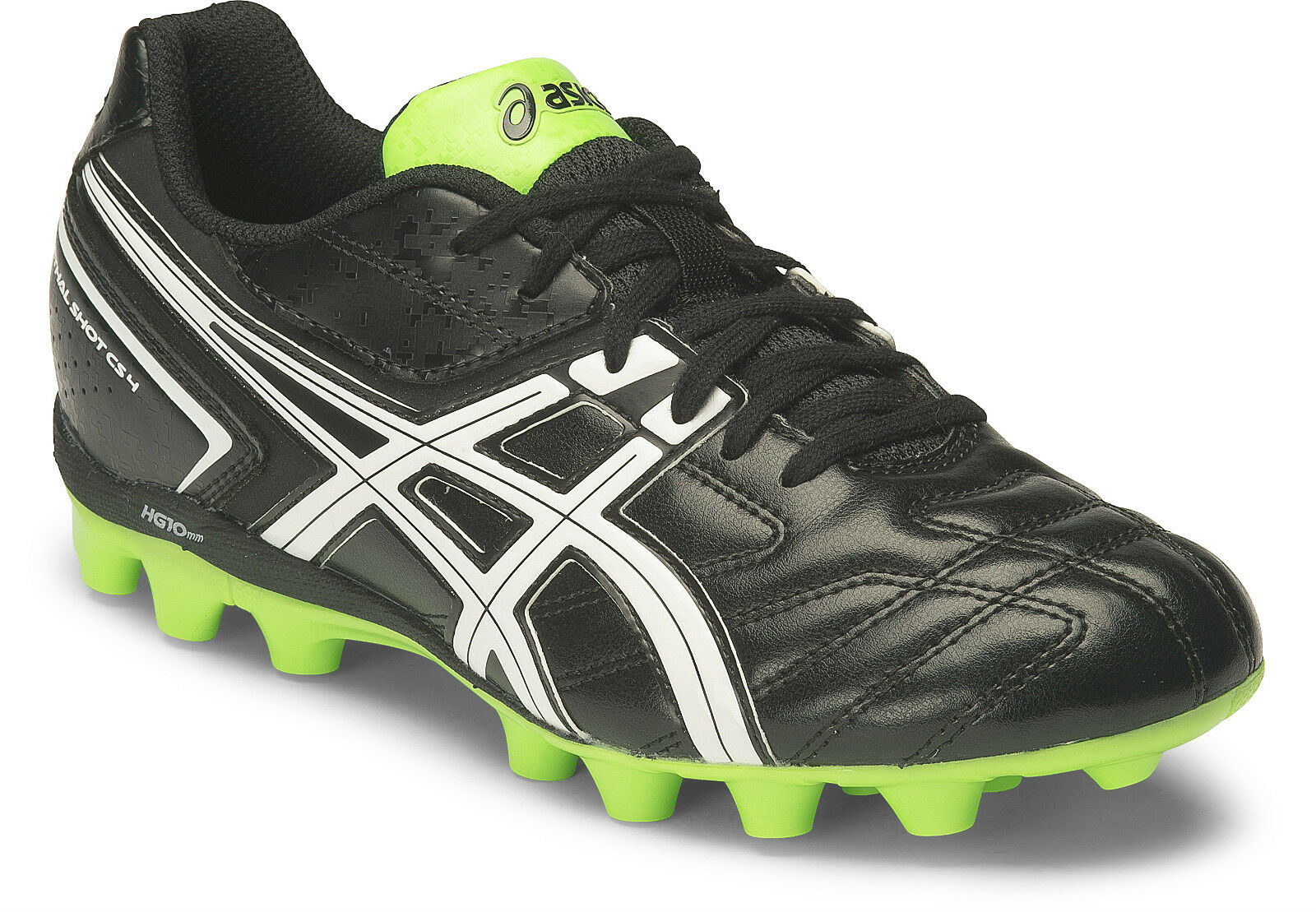Asics Lethal Shot CS 4 GS Kids Football schuhe (9001) + Free Aus Delivery